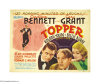 """Topper (MGM, 1937). Title Lobby Card (11"""" X 14""""). Constance Bennett and Cary Grant star in this classic screwb..."""
