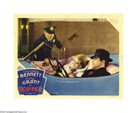 """Topper (MGM, 1937). Lobby Cards (2) (11"""" X 14""""). Cary Grant and Constance Bennett are passed out in their conv..."""