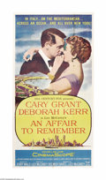 "Movie Posters:Romance, An Affair to Remember (20th Century Fox, 1957). Three Sheet (41"" X81""). Cary Grant and Deborah Kerr star in this classic ro..."