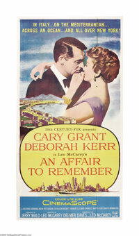 "An Affair to Remember (20th Century Fox, 1957). Three Sheet (41"" X 81""). Cary Grant and Deborah Kerr star in t..."
