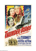 "Movie Posters:Drama, Thunder Birds (20th Century Fox, 1942). One Sheet (27"" X 41""). Thisis one of the beautiful Fox stone litho one sheets they ..."