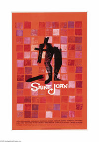 """Saint Joan (United Artists, 1957). One Sheet (27"""" X 41""""). Otto Preminger's version of the life of Joan of Arc..."""
