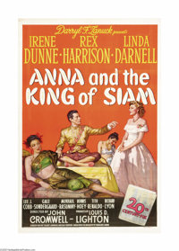 "Anna and the King of Siam (20th Century Fox, 1946). One Sheet (27"" X 41""). Irene Dunne plays a teacher from En..."