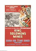 "Movie Posters:Adventure, King Solomon's Mines (MGM, 1950). One Sheet (27"" X 41""). StewartGranger stars as adventure guide, Allen Quartermain, in thi..."