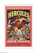 """Movie Posters:Adventure, Hercules (Warner Brothers, 1959). One Sheet (27"""" X 41""""). ThisItalian import was a surprise hit in the U.S. and served as a ..."""