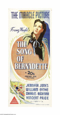 """Movie Posters:Drama, The Song of Bernadette (20th Century Fox, 1943). Australian Daybill(13"""" X 30""""). Based on the true story of a young French g..."""