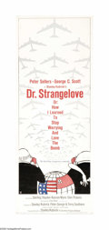 """Movie Posters:Comedy, Dr. Strangelove or: How I Learned to Stop Worrying and Love theBomb. (Columbia, 1964). Insert (14"""" X 36""""). One of Stanley K..."""