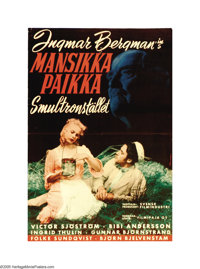 """Wild Strawberries (Svensk Filmindustri, 1957). Finnish Poster (16"""" X 23""""). This is an original poster from Ing..."""
