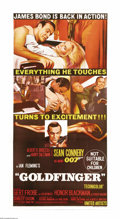 "Movie Posters:Action, Goldfinger (United Artists, 1964). Australian Three Sheet (41"" X81""). Sean Connery is back in the role he made his own. Thi..."