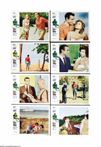 """Dr. No (United Artists, 1962). Lobby Card Set of 8 (11"""" X 14""""). This lot contains a full set of cards from the..."""