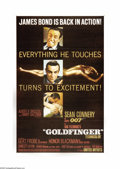 "Movie Posters:Action, Goldfinger (United Artists, 1964). One Sheet (27"" X 41""). SeanConnery reprises his role as Ian Fleming's master spy James B..."