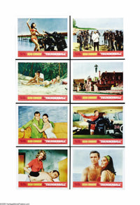 """Thunderball (United Artists, 1965.) Lobby Card Set of 8 (11"""" X 14""""). The script for this fourth Bond outing wa..."""