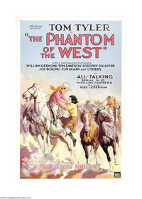 """The Phantom of the West (Mascot, 1931). One Sheet (27"""" X 41""""). This was Mascot Pictures' second all-talkie, so..."""