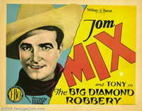"The Big Diamond Robbery (FBO, 1929). Title Card and Lobby Cards (3) (11"" X 14""). Tom Mix stars in this late-si..."