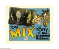 "Movie Posters:Western, The Big Diamond Robbery (FBO, 1929). Lobby Cards (4) (11"" X 14""). This was the last film Tom Mix made for FBO studios before... (4 items)"