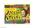 "Movie Posters:Western, Annie Oakley (RKO, 1935). Title Lobby Card (11"" X 14""). This RKO western stars Barbara Stanwyck as Annie Oakley, a sharpshoo..."