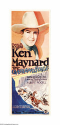 "Movie Posters:Western, The Overland Stage (First National, 1927). Insert (14"" X 36""). A gorgeous insert for this Ken Maynard oater directed by Albe..."