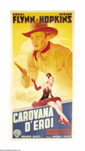 """Movie Posters:Western, Virginia City (Warner Brothers, 1940). Italian Poster (40"""" X 80""""). This beautiful stone-litho poster most likely from the fi..."""