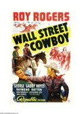 "Movie Posters:Western, Wall Street Cowboy (Republic, 1939). One Sheet (27"" X 41""). Roy Rogers is in danger of losing his ranch because of the Easte..."