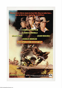 """Once Upon A Time in the West (Paramount, 1969). One Sheet (27"""" X 41""""). Ennio Morricone composed the musical sc..."""