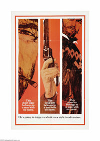 """A Fistful of Dollars (United Artists, 1966). One Sheet (27"""" X 41"""") Advance Style B. An Italian film made in Sp..."""