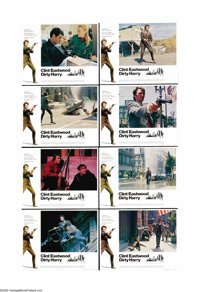 """Dirty Harry (Warner Brothers, 1971). Lobby Card Set of 8 (11"""" X 14""""). Clint Eastwood, as Detective Harry Calla..."""