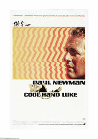 """Cool Hand Luke (Warner Brothers, 1967). One Sheet (27"""" X 41""""). Paul Newman, known for his cool swagger in such..."""
