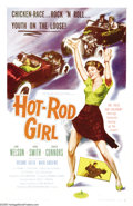 "Movie Posters:Bad Girl, Hot Rod Girl (American International, 1956). One Sheet (27"" X 41"").Lori Nelson races a 1955 T-Bird in this thrill-hungry te..."