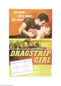 "Movie Posters:Bad Girl, Dragstrip Girl (AIP, 1957). One Sheet (27"" X 41""). The prototypicalAmerican International teenage film with Fay Spain as th..."