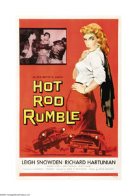 "Hot Rod Rumble (Allied Artists, 1957). One Sheet (27"" X 41""). A couple of kids (Richard Hartunian and Leigh Sn..."