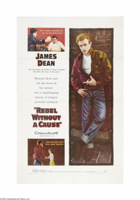 "Rebel Without a Cause (Warner Brothers, 1955). One Sheet (27"" X 41""). This poster is undoubtedly the most soug..."