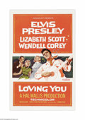 """Movie Posters:Elvis Presley, Loving You (Paramount, 1957). One Sheet (27"""" X 41""""). Elvis Presleyrocked the screen in his second film, the first one that ..."""