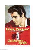 "Movie Posters:Elvis Presley, Jailhouse Rock (MGM, 1957). One Sheet (27"" X 41""). Legend has it that Elvis never saw this movie as his young co-star Judy T..."