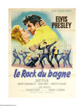 "Movie Posters:Elvis Presley, Jailhouse Rock (MGM, 1957). French Grande (47"" X 63""). Long beforeMTV came along, movies gave teenagers a look at rock 'n' ..."