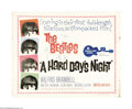 "Movie Posters:Rock and Roll, A Hard Day's Night (United Artists, 1964). Half Sheet (22"" X 28"").Innovative, young director Richard Lester developed a who..."