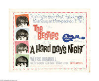 """A Hard Day's Night (United Artists, 1964). Half Sheet (22"""" X 28""""). Innovative, young director Richard Lester d..."""
