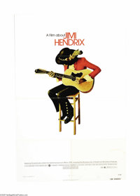 """Jimi Hendrix (Warner Brothers, 1973). One Sheet (27"""" X 41""""). Three years after Hendrix died of an overdose War..."""