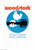 "Movie Posters:Musical, Woodstock (Warner Brothers, 1970). One Sheet (27"" X 41""). The, ""Woodstock,"" pressbook encourages theater owners to acquire s..."