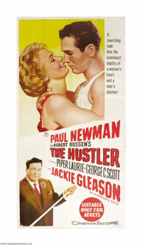 "The Hustler (20th Century Fox, 1961). Australian Three Sheet (41"" X 81""). Based upon the novel of the same nam..."