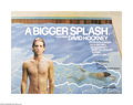 "Movie Posters:Documentary, A Bigger Splash (Buzzy Enterprises, 1974). British Quad (30"" X 40""). All the actors play themselves in this fictional docume..."