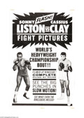 """Movie Posters:Sports, Liston vs. Clay (20th Century Fox, 1964). One Sheet (27"""" X 41""""). Cassius Clay, the brash, loud-mouthed """"Louisville Lip,"""" not..."""