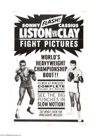 """Liston vs. Clay (20th Century Fox, 1964). One Sheet (27"""" X 41""""). Cassius Clay, the brash, loud-mouthed """"L..."""