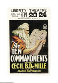 "Movie Posters:Drama, The Ten Commandments (Paramount, 1923). Window Card (14"" X 22"").This window card is from Cecil B. DeMille's first screen ve..."