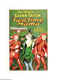 "Two-Time Mama (Pathe', 1927). One Sheet (27"" X 41""). This comedy short deals with infidelity, spousal trust an..."