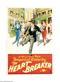 "Movie Posters:Comedy, The Heart Breaker (Fox, 1915). One Sheet (27"" X 41""). This FoxStudios short was directed by Lorimer Johnston and starred Ch..."