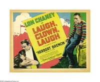 "Laugh, Clown, Laugh (MGM, 1928). Title Lobby Card (11"" X 14""). Intended as a silent film, this feature was rel..."