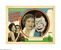 "Laugh, Clown, Laugh (MGM, 1928). Lobby Card (11"" X 14""). Without a doubt this is the best card of the set, fea..."