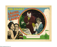 "Laugh, Clown, Laugh (MGM, 1928). Lobby Card (11"" X 14""). Lon Chaney appears in complete makeup as Tito, a hear..."