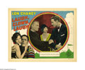 "Movie Posters:Drama, Laugh, Clown, Laugh (MGM, 1928). Lobby Card (11"" X 14""). This card features Lon Chaney as he confronts Nils Asther, the man ..."
