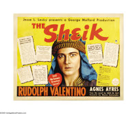 "The Sheik (Paramount, R-1938). Half Sheet (22"" X 28""). The original 1921 release of this desert love adventure..."
